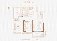 三室两厅一卫--95.18平方